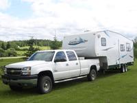 truck pulling camper